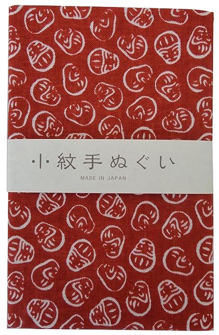 Miyamoto-Towel Toalla Tradicional Japonesa Tenugui patrón pequeño Dharma-Doll