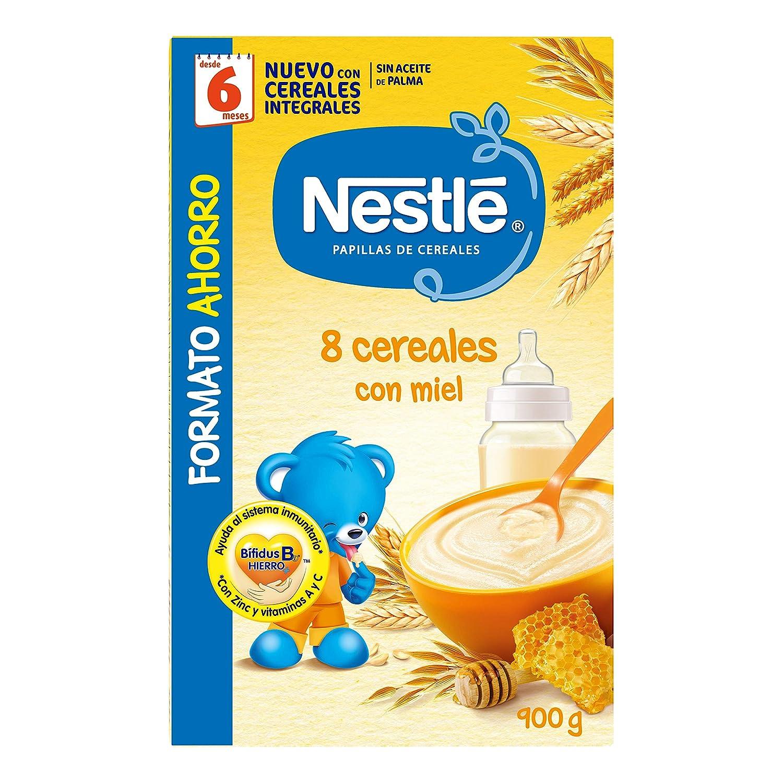 Nestlé Papillas - 8 cereales con Miel, a partir de 6 meses, 900 gr ...