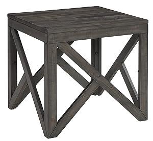 Ashley Furniture Signature Design - Haroflyn Contemporary Square End Table - Gray