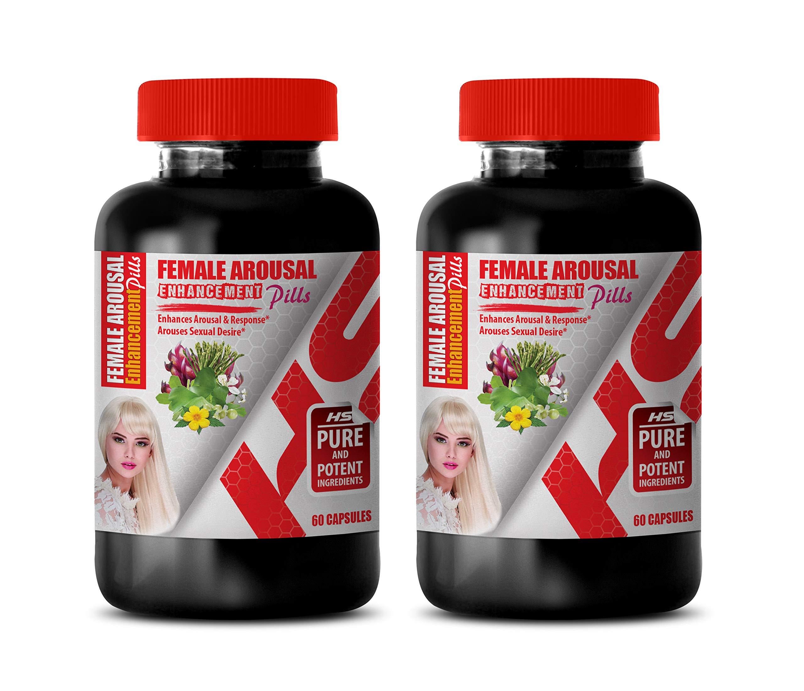Sexual Enhancement for Women - Female Arousal Enhancement Pills Complex - tribulus terrestris and l arginine - 2 Bottles 120 Capsules