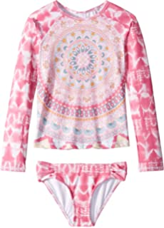 f28e3b59bd78b Billabong Kids Girl's Medallion Madness Long Sleeve Rashguard Set (Little  Kids/Big Kids)