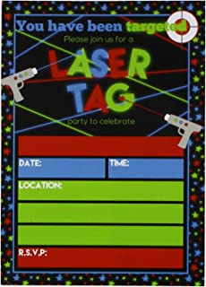 Amazon Com Laser Tag Birthday Party Invitations 20 Count With