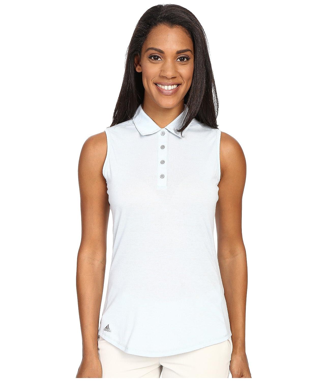 [アディダス] adidas Golf レディース Essentials Heather Sleeveless Polo トップス Soft Blue LG [並行輸入品]   B01ELV07CY