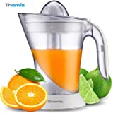THEMIS CJ3371 Adjustable Pulp Control Electric Citrus Juicer, 2 Size Juicing Cones, 1 Liter 35 Ounce -  White