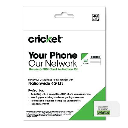 Cricket Wireless Prepaid GSM SIM Card - (No Contract