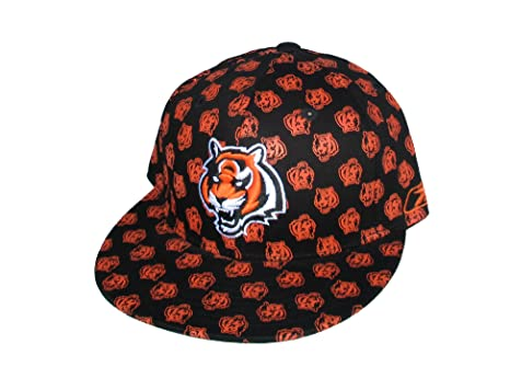 f61a8c3634bd76 Image Unavailable. Image not available for. Color: Cincinnati Bengals Adult Fitted  Size 7 3/8 NFL Authentic Black & Orange Hat Cap