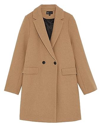 f3ff75b9 Amazon.com: Zara Women Masculine Coat 1255/809 Beige: Clothing