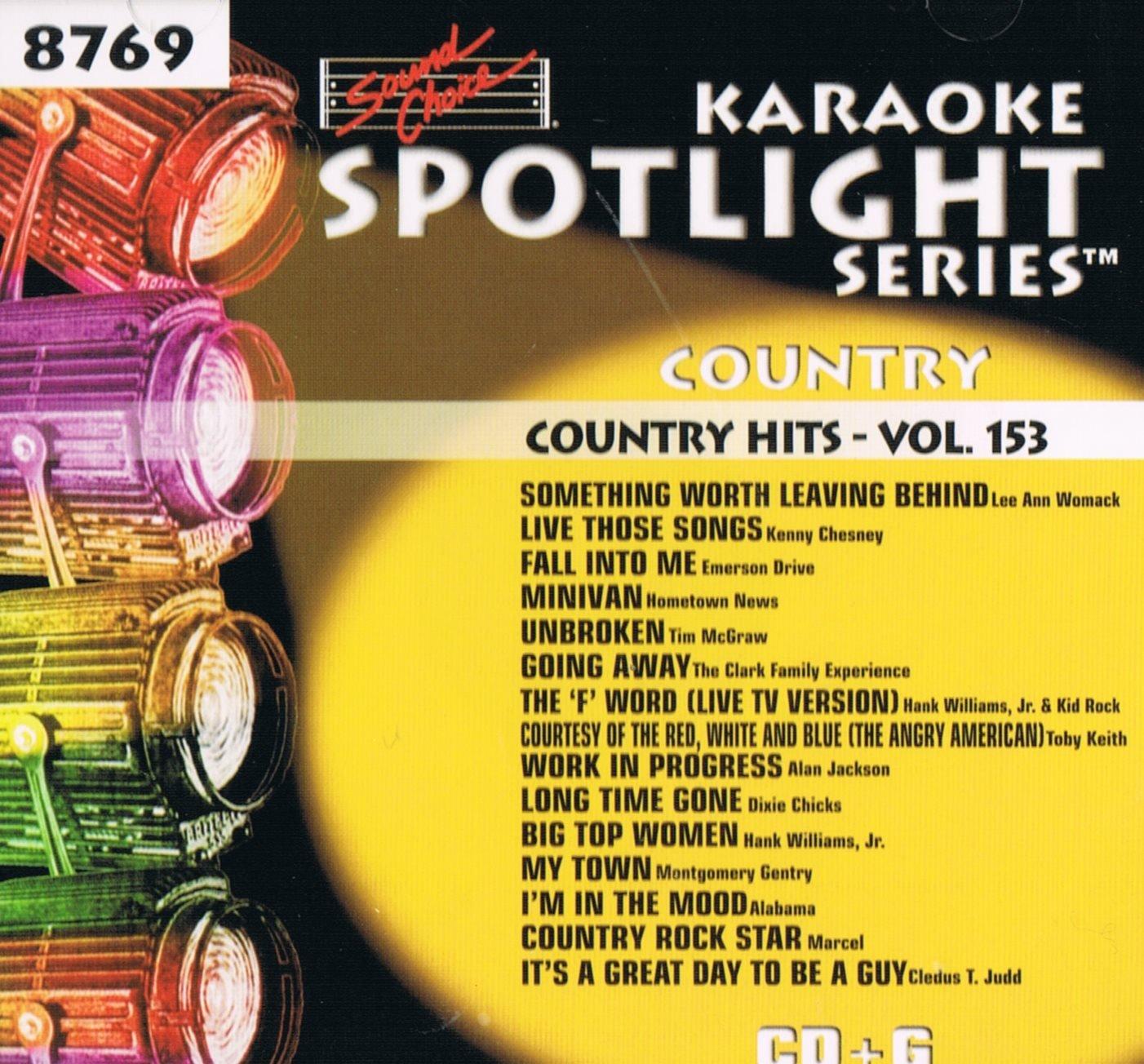 Sound Choice Karaoke Spotlight Series Country Hits Vol.153-8769 by