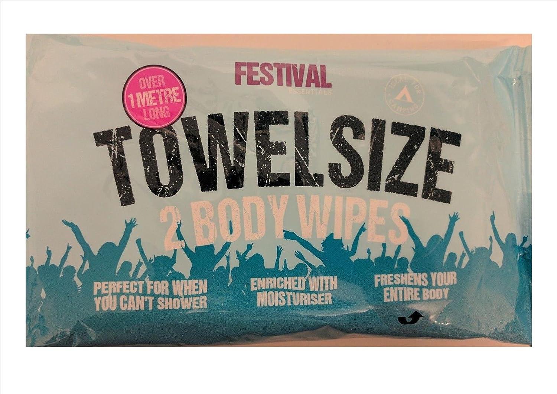 Festival Towel Size Body Wet Wipes Amazing XXL Pack Of 2-1 Metre Long