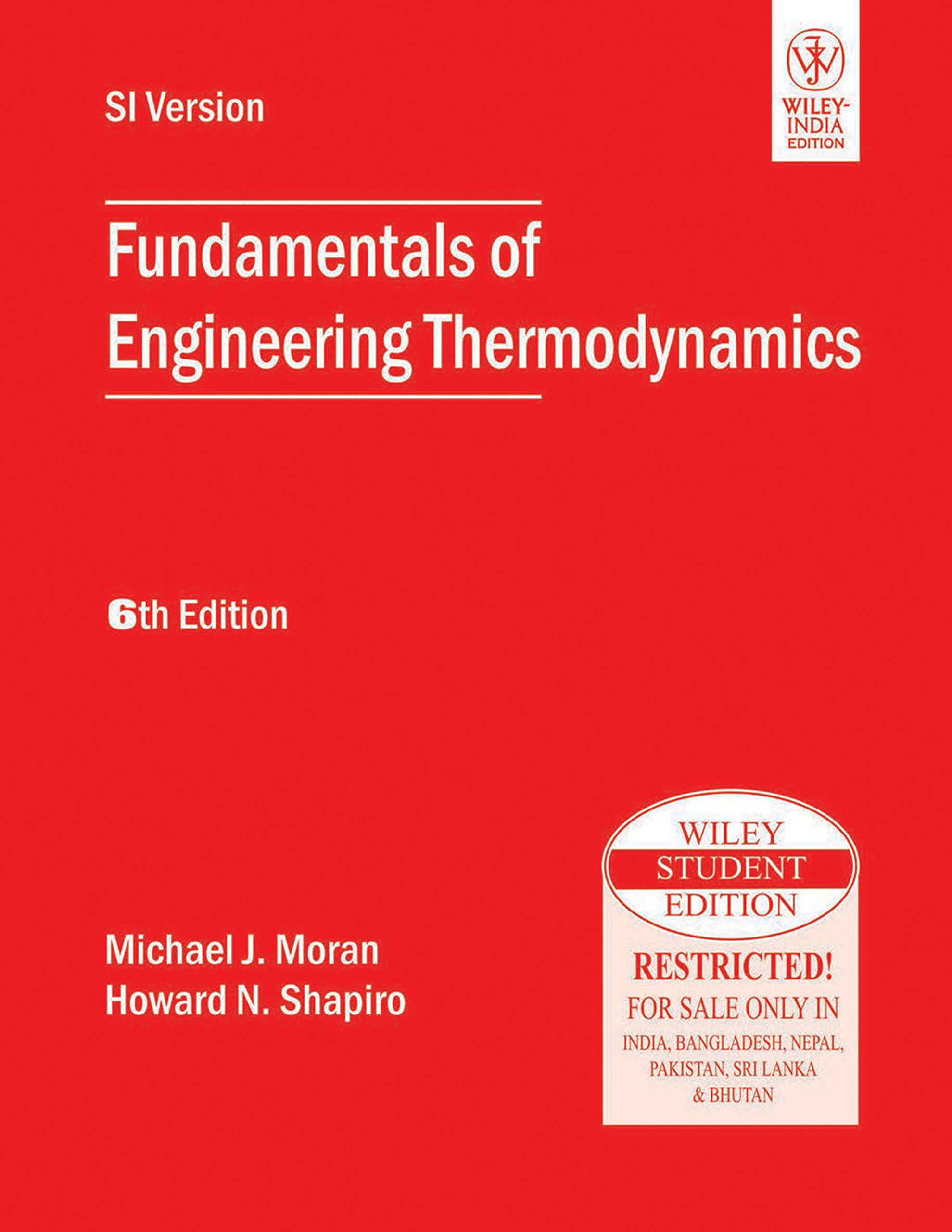 Download Fundamentals Of Engineering Thermodynamics, 6th Ed pdf