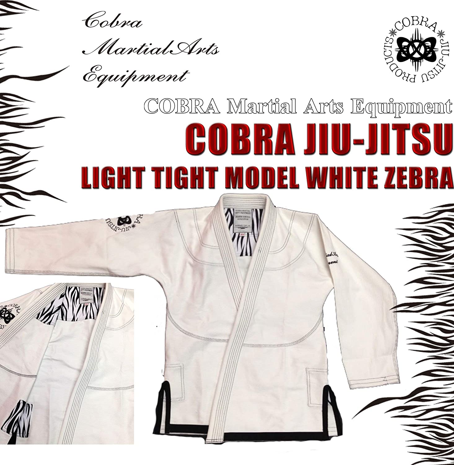 COBRA JIU-JITSU GI LIGHT TIGHT MODEL WHITE ZEBRA (A1/身長160-170cm 体重~75kg) B01B5VWL4A  A1/身長160-170cm 体重~75kg