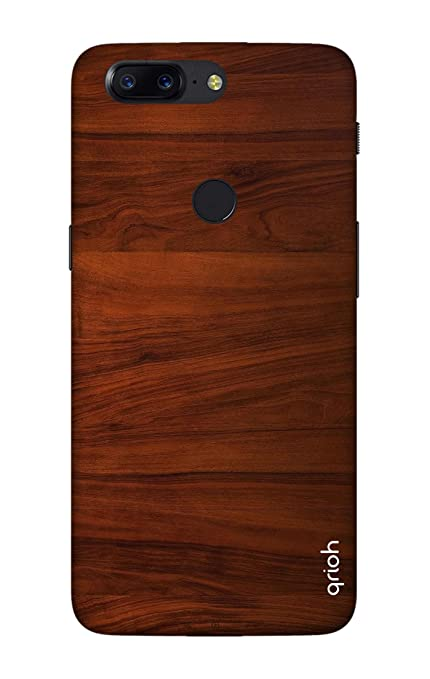 new product 17645 3e734 Qrioh Printed Designer Back Case Cover for OnePlus 5T - Wooden Sheet Case
