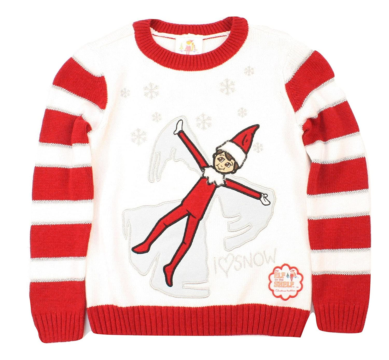 Ugly Christmas Sweater Kid's The Elf On The Shelf Pullover Sweatshirt-4 SXE7-1940BMG2-WINTER WHT-4
