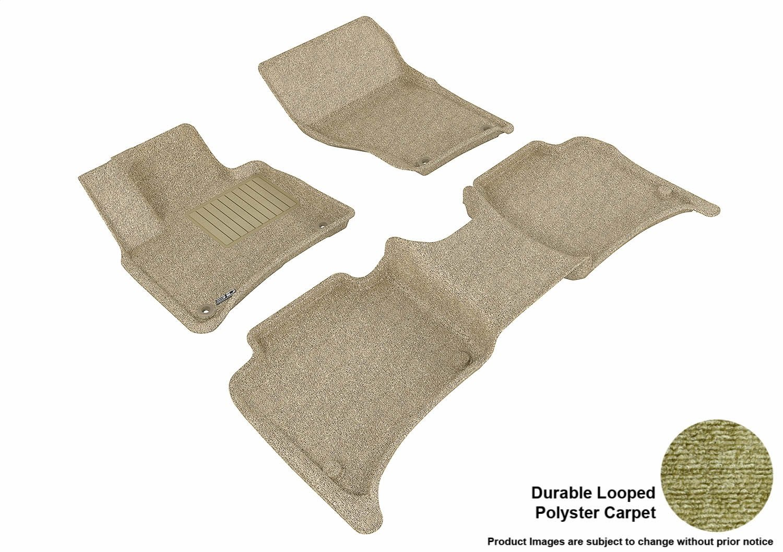 Black 3D MAXpider Front Row Custom Fit Floor Mat for Select Porsche Cayenne//Volkswagen Touareg Models Classic Carpet
