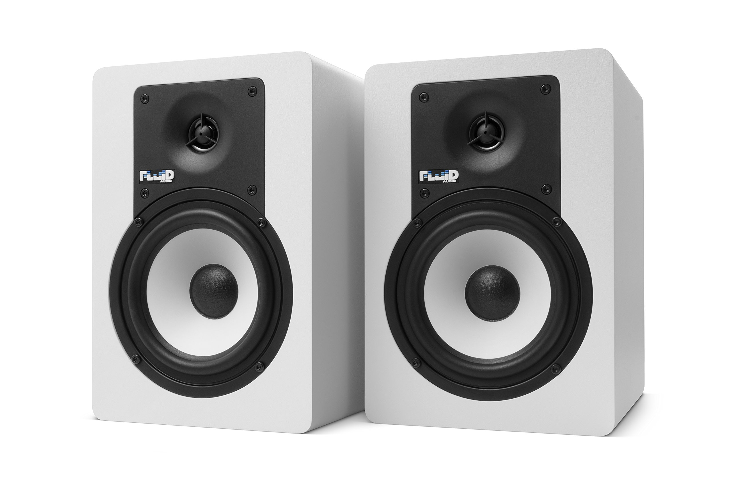 Fluid Audio C5 Bluetooth (Pair) - 5'' Active Studio Monitors with Bluetooth, White