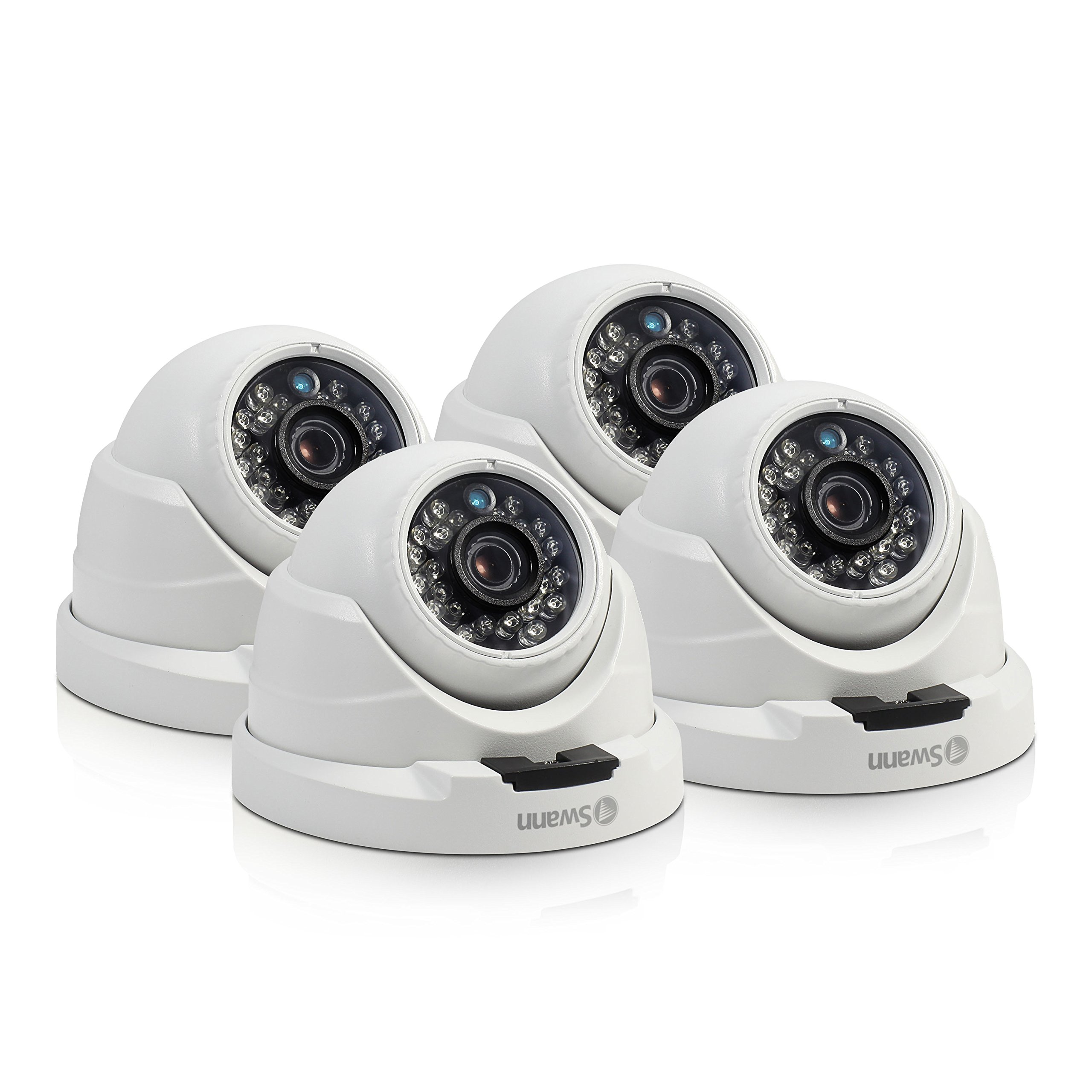 Swann CONHD-A4MPDPK4-US NHD-819 4MP Super HD White Security Outdoor Dome Network Turret Surveillance Camera - 4 Pack