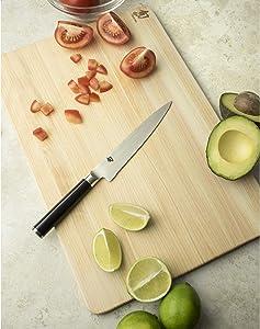 Shun Classic Knife, 6 Inch, Serrated Utility