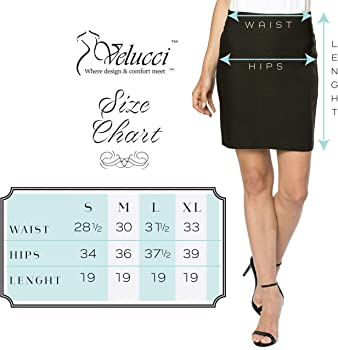 7adbd34eff05 Velucci Womens Stretchable Mini Pencil Skirt - Above The Knee 19 ...