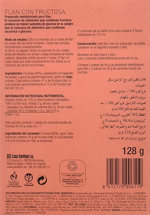 Santiveri Flan Con Fructosa 128G 500 g: Amazon.es ...