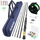 PLUSINNO Fly Fishing Rod and Reel Combo Starter Kit, Including Graphite 5/6 Weight Fly Rod, Fly Reel, Fly Fishing Accessories