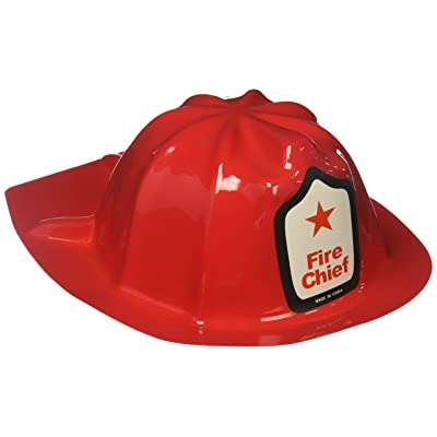 Rhode Island Novelty Plastic Firefighter Chief Hat (Set of 24): Toys & Games