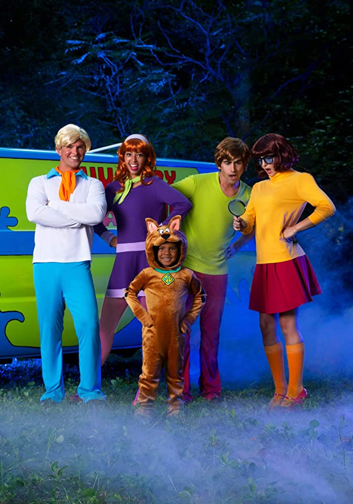 MSBASIC Halloween Long Sleeves Mini Scooby Doo Costume Daphne Dress with Scarf