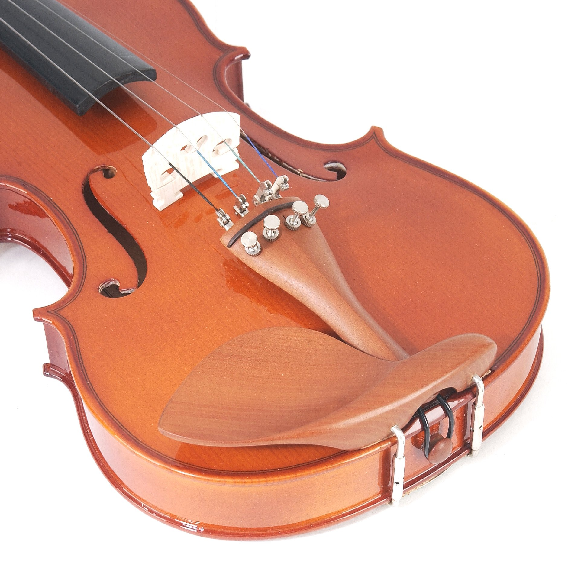 Cecilio CVN-200 Solidwood Violin with D'Addario Prelude Strings, Size 4/4 (Full Size) by Cecilio (Image #5)
