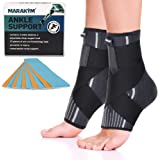 Premium Ankle Compression Socks Men & Women   Best Free Size Medical Ankle Support Pair(2 Pcs) With Compression Wrap…