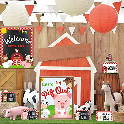 Tremendous Country Animal Birthday Table Toppers Farm Animal Party Center Funny Birthday Cards Online Inifodamsfinfo