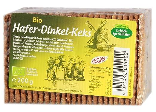 Liebhart´s Gesundkost Bio-Hafer-Dinkel-Keks - Bio - 200g: Amazon.de ...