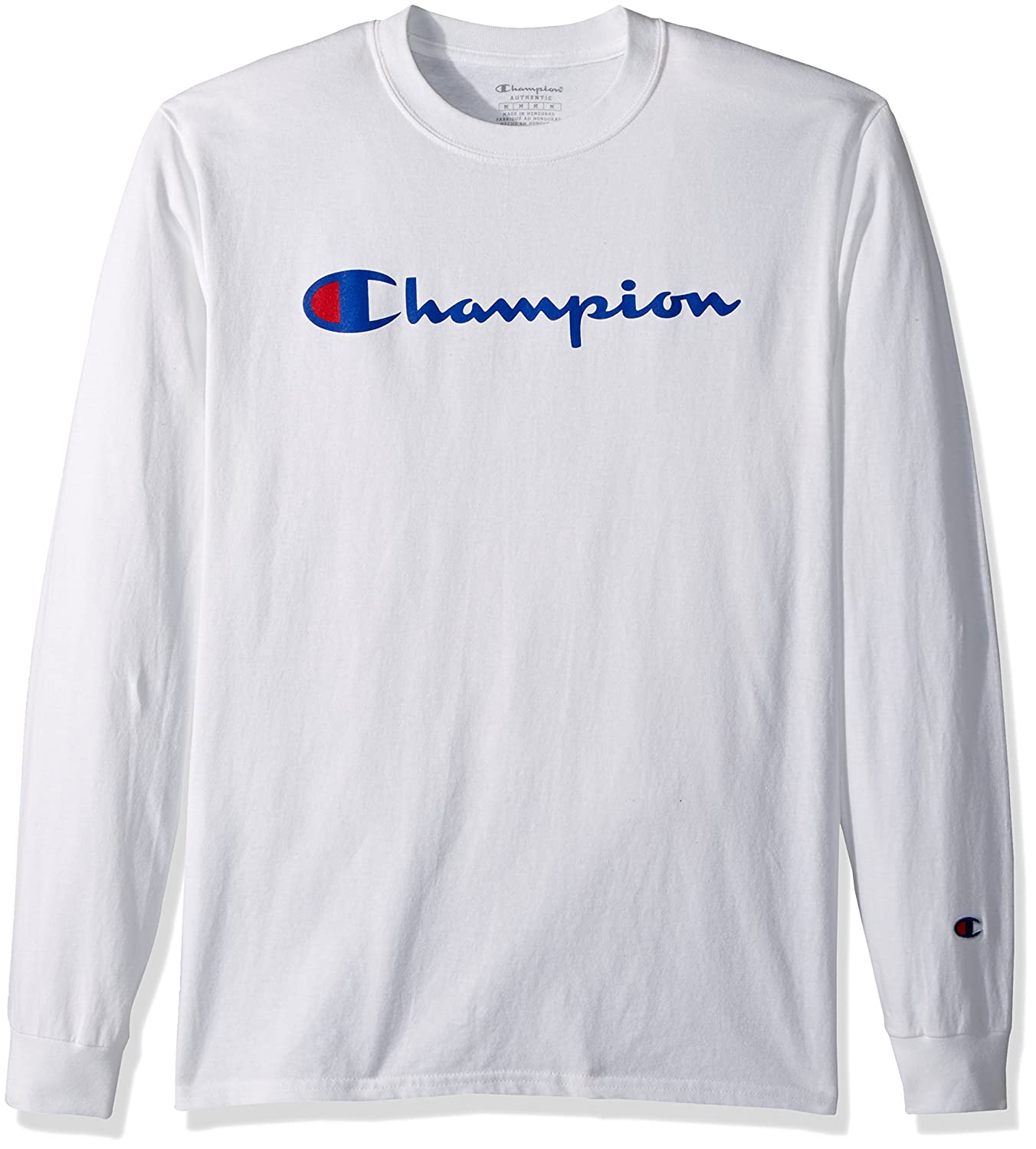 765741b1 Online Cheap wholesale Champion Mens Classic Jersey Long Sleeve Script T-Shirt  T-Shirts Suppliers