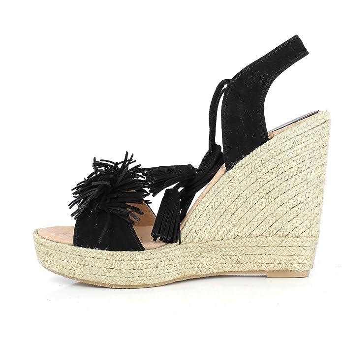Clarice 630 - Sandales Pour Femmes / Noir Elizabeth Stuart HIJ8rHv