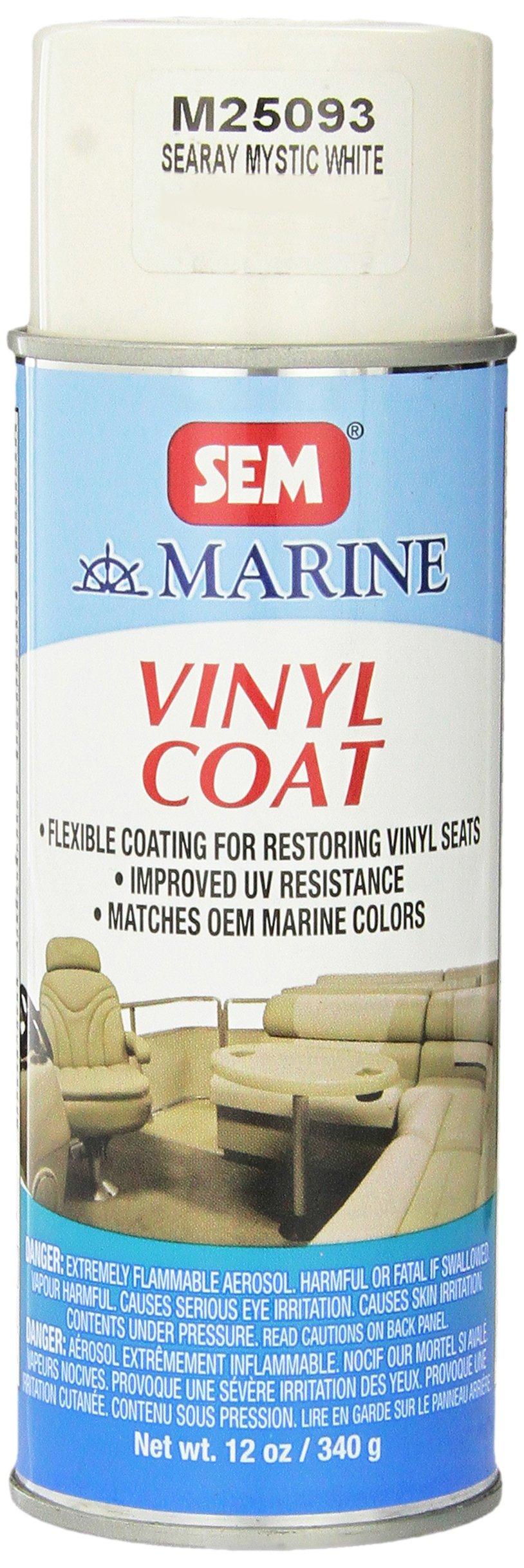SEM M25093 Sea Ray Mystic White Marine Vinyl Coat - 12 oz. Package may vary