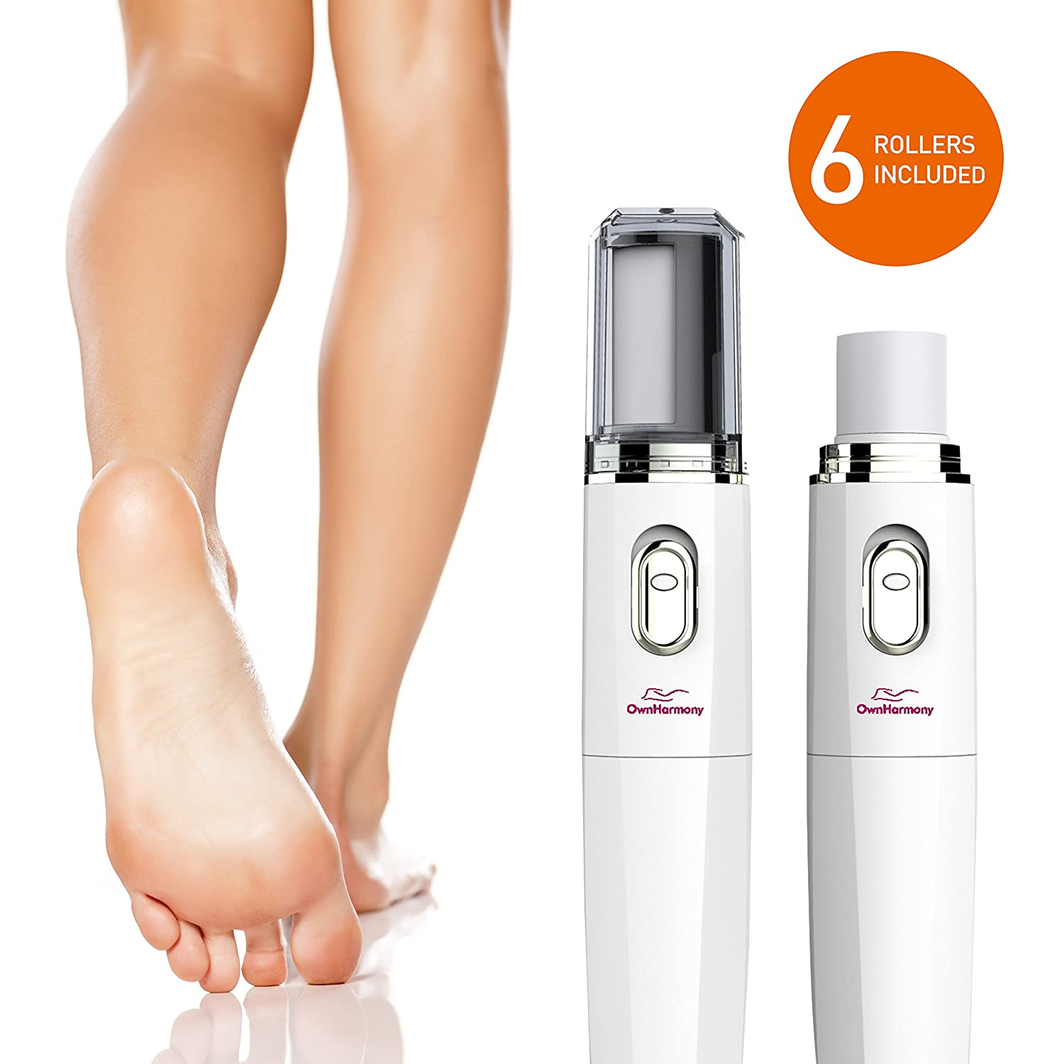 Electric Foot File Callus Remover & Electronic Nail File (4 in 1) Best Mani Pedi Tools - Perfect Professional Manicure & Pedicure Care Set by Own Harmony