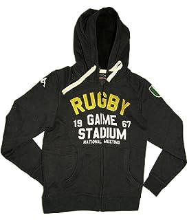 479bcaddecb4 Kappa Slim Fit Italian Designer s Mens Charcoal Rugby Fleece Zip Hoodie  Winter Jacket