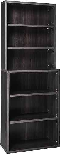 Cheap ClosetMaid 13509 Decorative 6-Shelf Premium Hutch Bookcase modern bookcase for sale