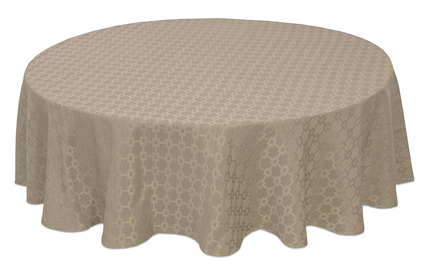 Kitchen Dining Bardwil Linens Chandler 70 Round Tablecloth Taupe 2187f070rndtau Table