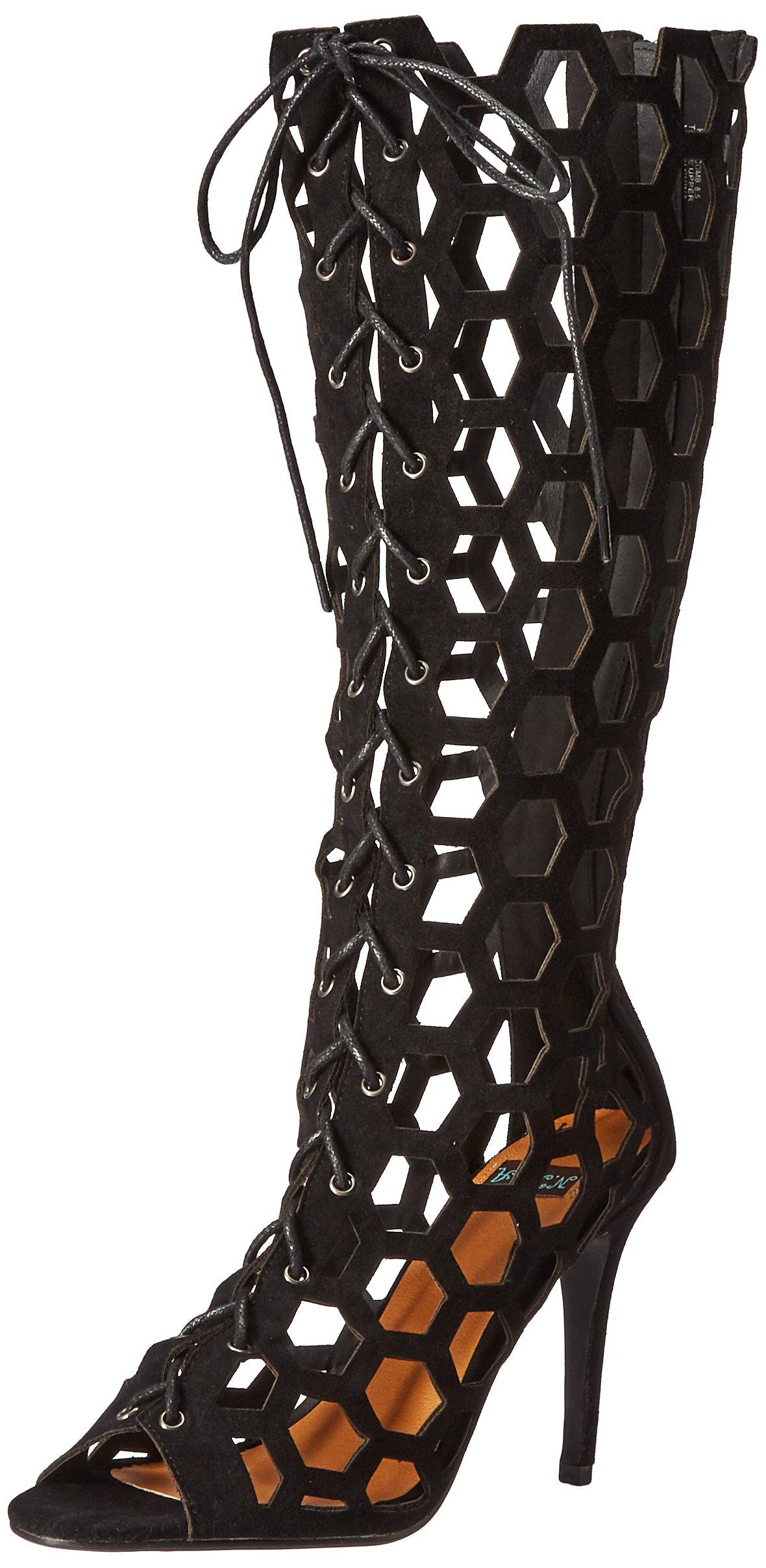 N.Y.L.A. Women's Honeycomb Dress Pump, Black, 6.5 M US
