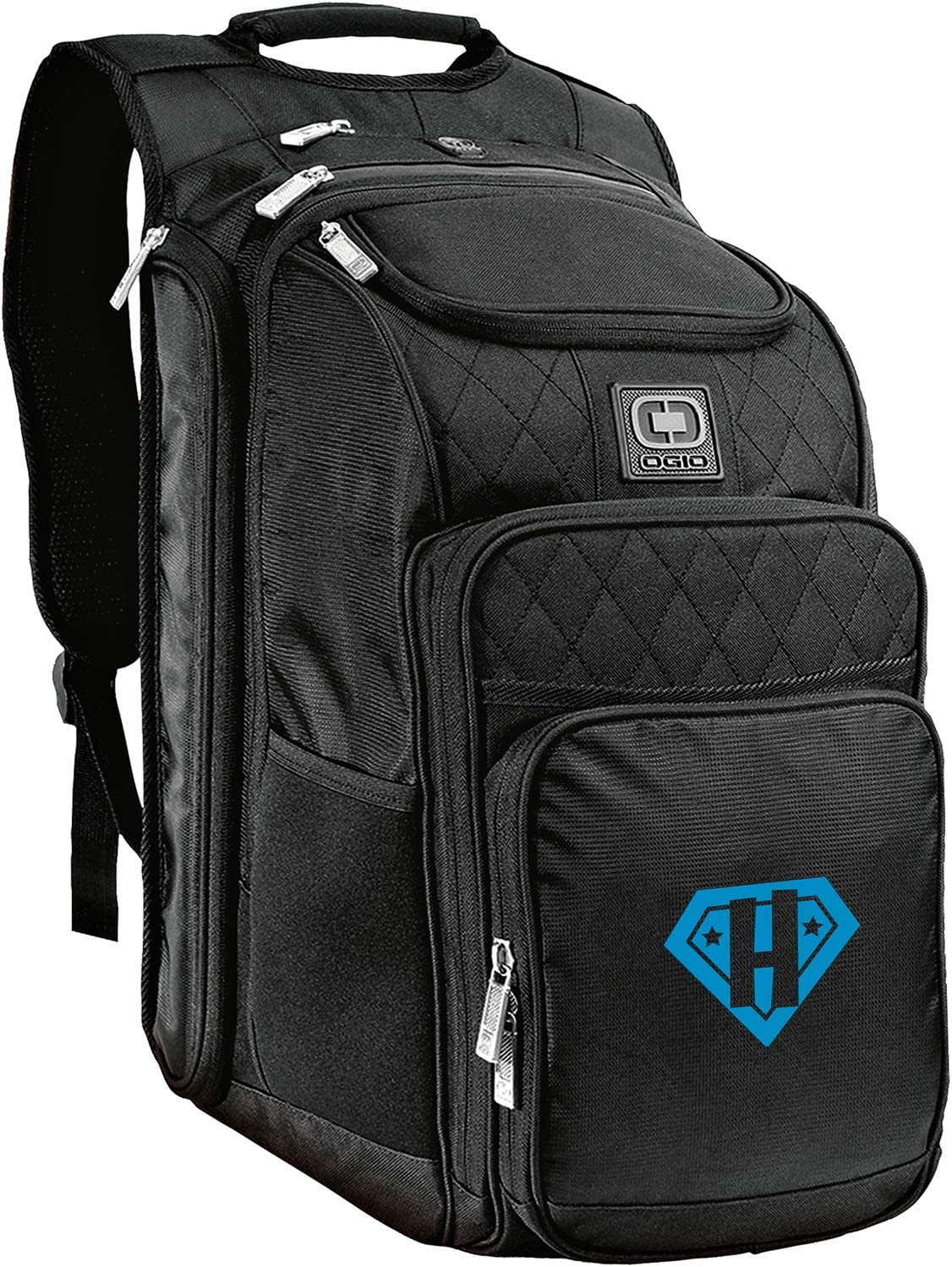 with Vinyl SuperHero Monogram U Black Monogrammed Me Epic Backpack