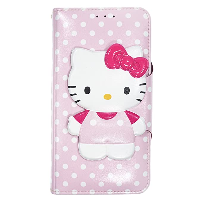 free shipping d2fcb fc62a iPhone Xs Max Case Hello Kitty Cute Diary Wallet Flip/Synthetic  Leather/Anti-Shock for [ Apple iPhone Xs Max (6.5inch) ] Cover - Button  Body Baby Pink