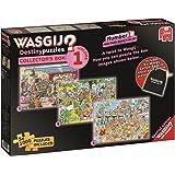 Jumbo - 619124 - 3 Puzzles - Puzzle - Wasgij Destiny - Collectors Box - 1000 Pièces