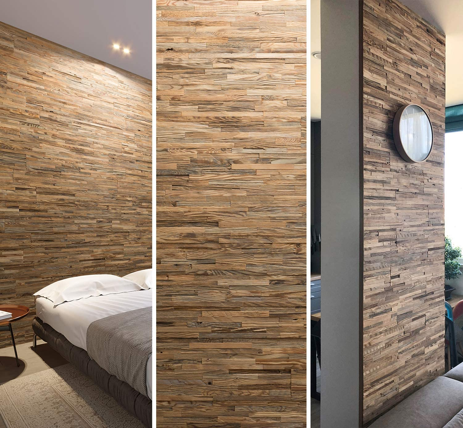 """Wooden Wall Design - Wall Panel""""Brut"""" - Decorative Wood Tiles for"""