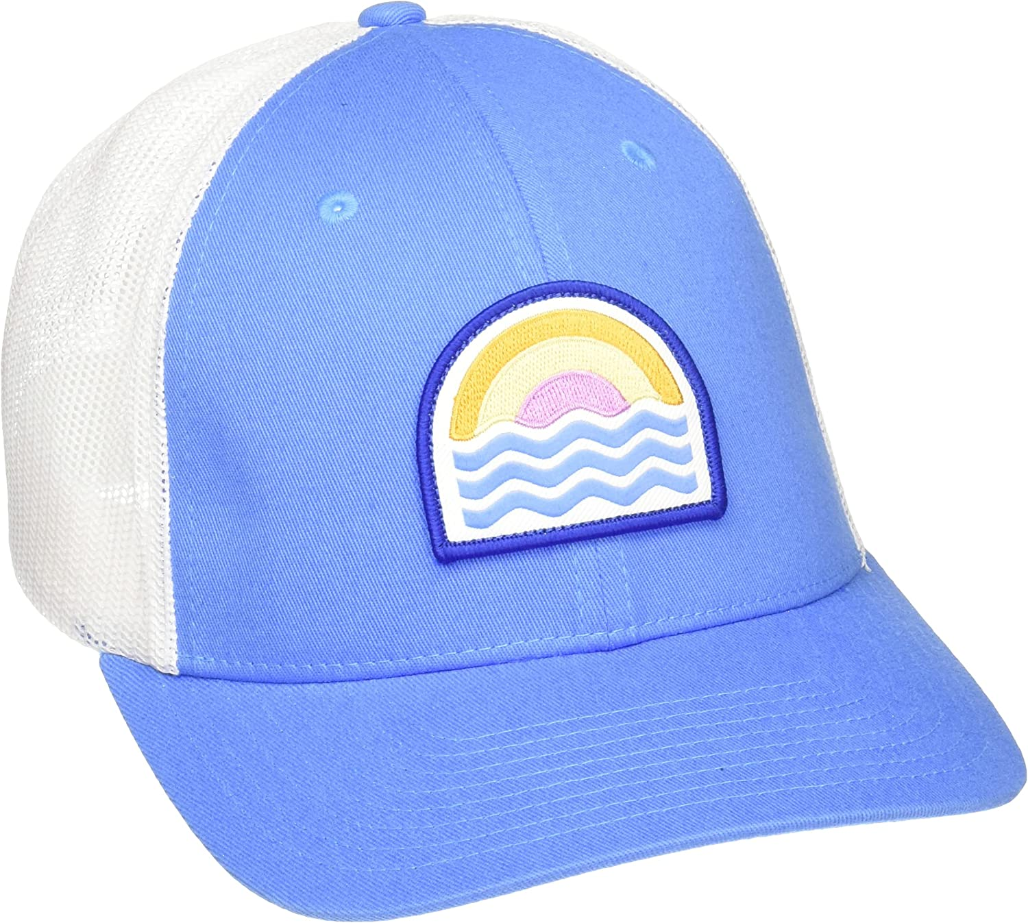Columbia Women's Snap Back Hat, Harbor Blue/Sunwaves Patch, One Size: Clothing