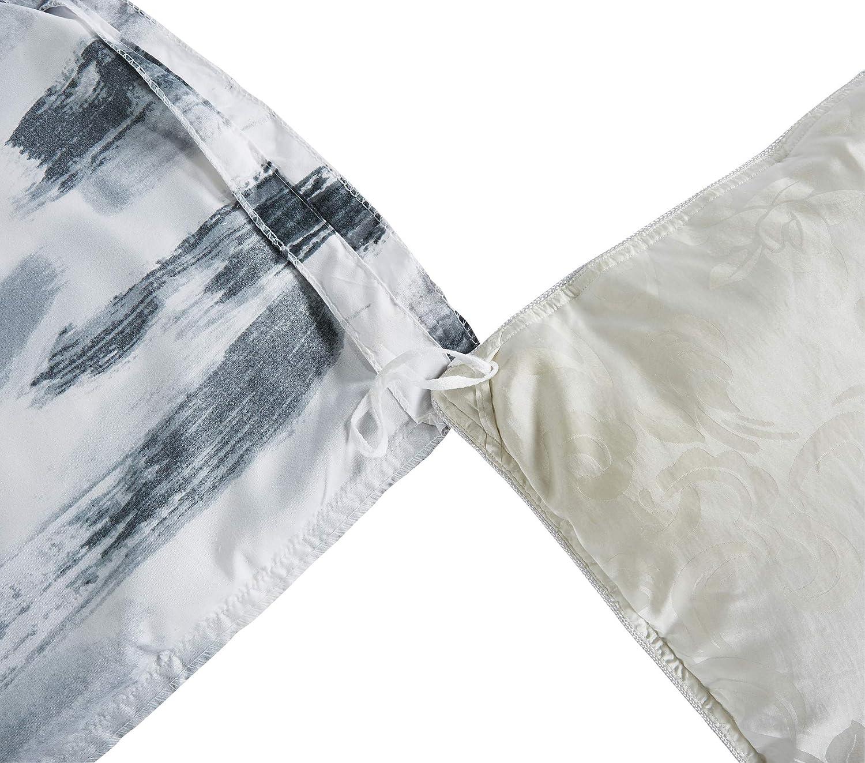 Delbou Tree Microfiber Duvet Cover Set,Contemporary Duvet Cover Set Corner Ties,Zipper Closure,Black White Quilt Cover Queen 90 90 inch