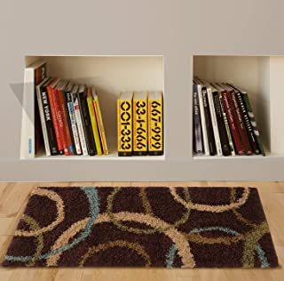 "product image for Orian Cuppie Cues Area Rug, 1'10"" x 5', Cocoa"