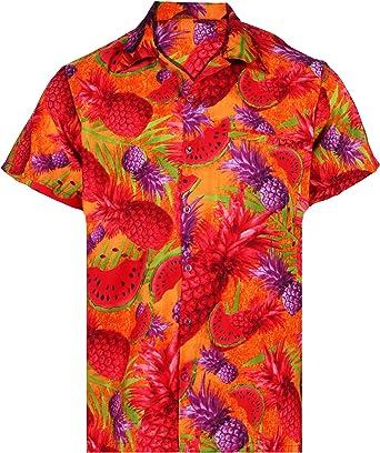 Virgin Crafts Camisa Hawaiana para Hombres y Mujeres piña Aloha: Amazon.es: Ropa y accesorios
