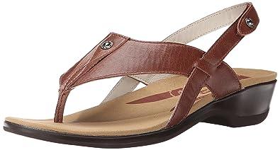 Propet Women's Mariko Slide Sandal, Chestnut, ...
