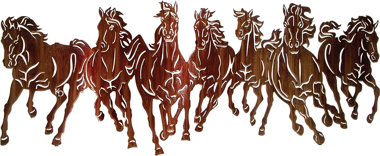 Thirstystone Thunderstorm 'Running Horses' Wall Art, 40-Inch