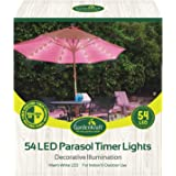 GardenKraft 54 LED Parasol Lights, Warm White