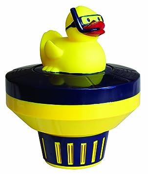 Piscina Herramienta Express Diver Patito de goma cloro Química Dispensador de ajustable Floater para piscinas: Amazon.es: Jardín